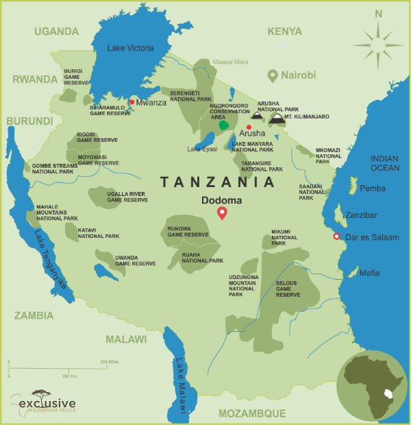 Safari Destination Map