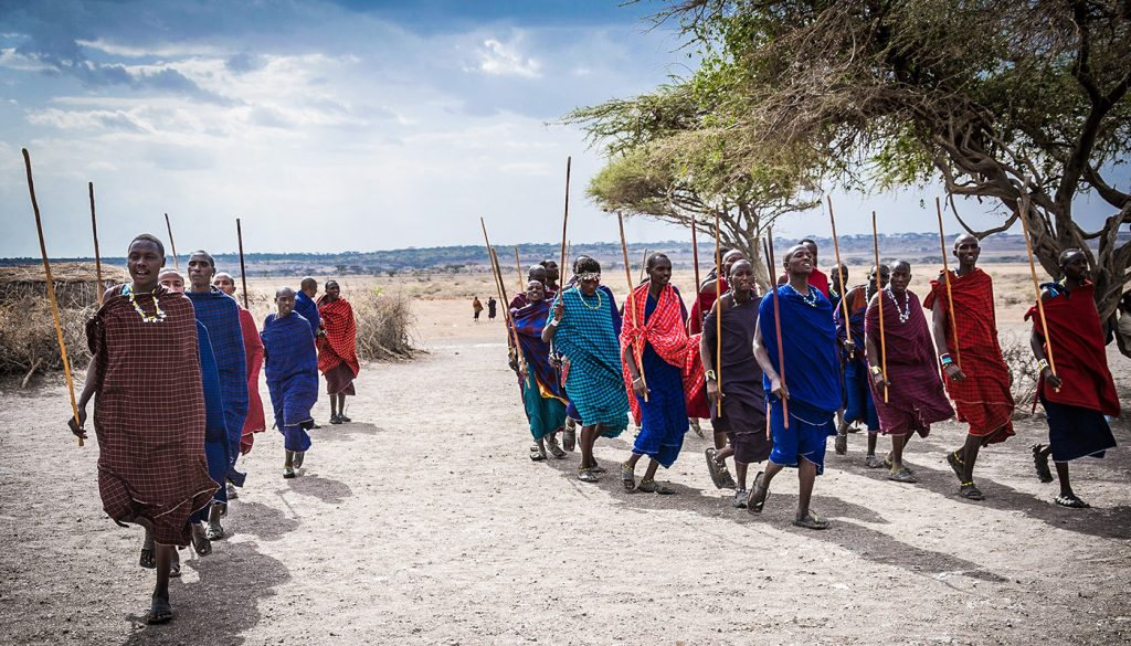 Maasai in Serengeti National Park